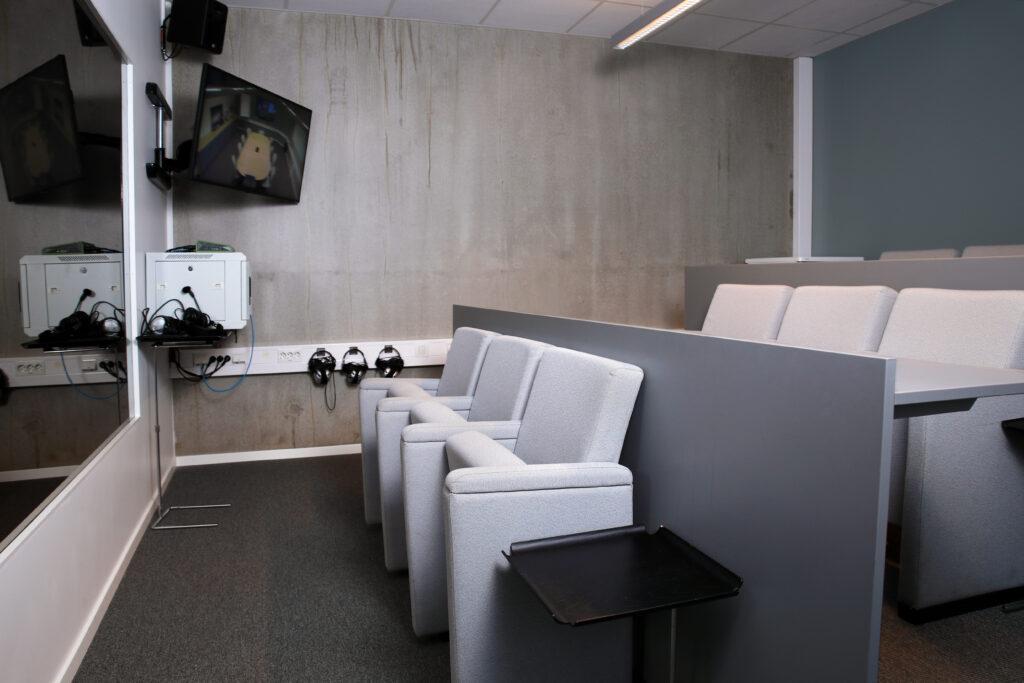 Bakrommet til vårt møterom Beerenberg nytt teknisk utstyr i 2019